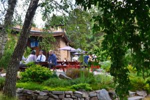 Blue Angel Café - økologisk tehus midt inde i Findhorn Foundation.