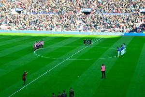 Der gøres klar til 2 minutters total stilhed på Stadium of Light i Sunderland.