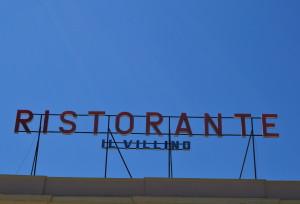 Man spiser fremragende  på Italiens hæl.